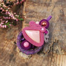 zawieszka sutasz fioletowa z opalem